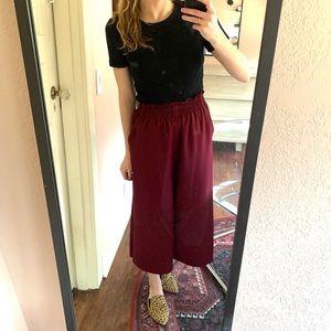 Rachel Comey Flared Burgundy Pants